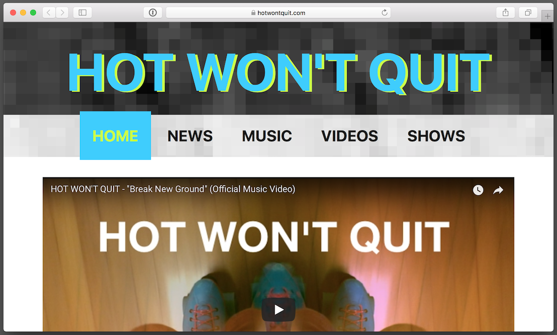 Hot Won't Quit dot com